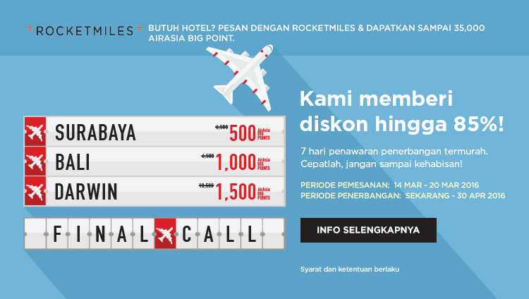 AirAsia Final Call 14 – 20 Maret 2016