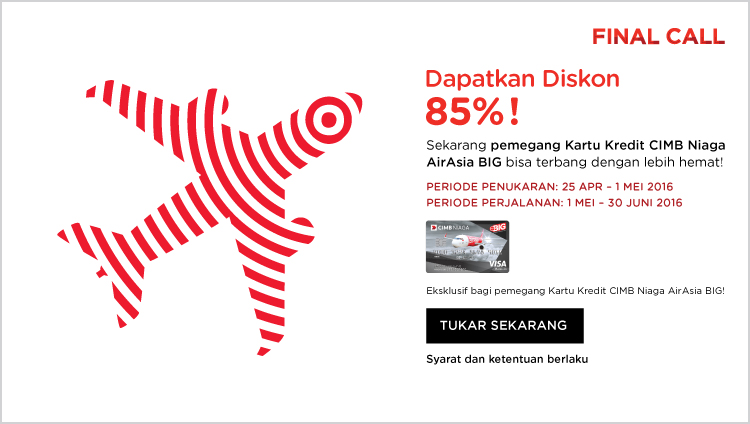 AirAsia Final Call 25 Apr – 1 Mei 2016