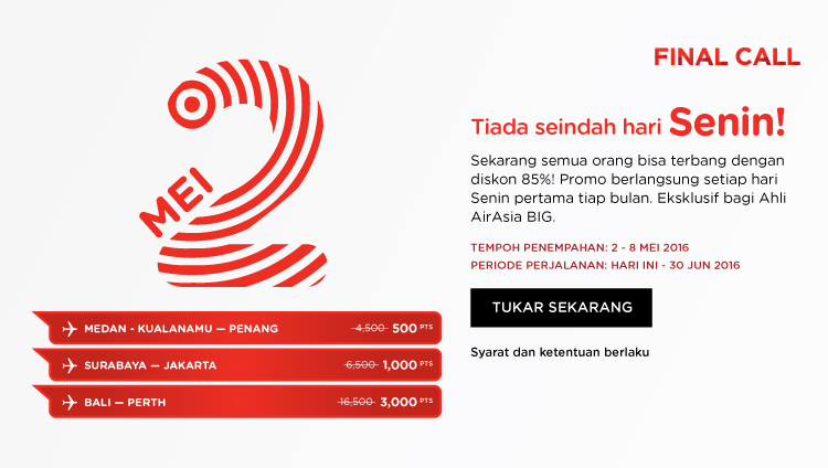 AirAsia Final Call 2 – 8 Mei 2016