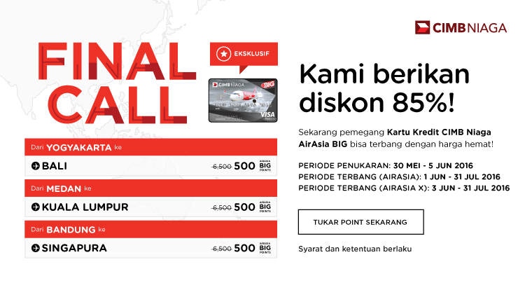 AirAsia Final Call 30 May – 5 Jun 2016