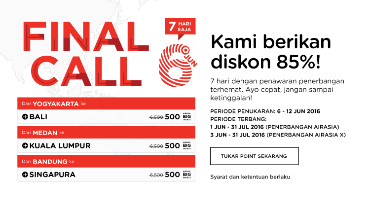 AirAsia Final Call 6 – 12 Jun 2016