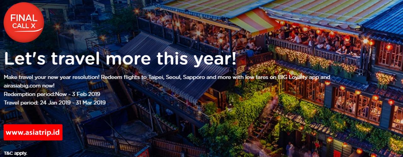 AirAsia X Final Call 21 JAN – 03 FEB 2019